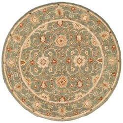 Hand-tufted Jaren Green Wool Rug (6' Round)