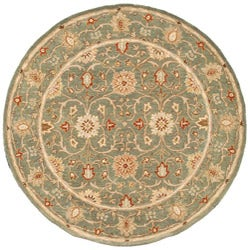 Hand-tufted Jaren Green Wool Rug (8' Round)