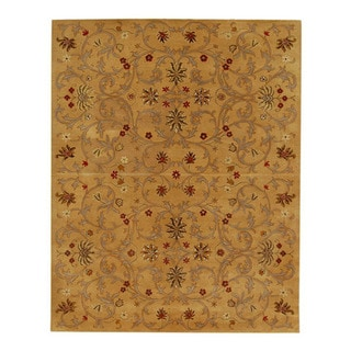 Hand-tufted Jarrah Gold Wool Rug (8' x 11')