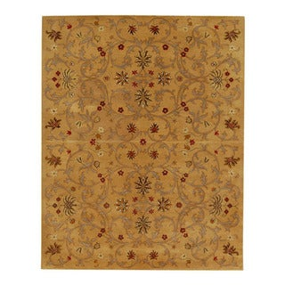 Hand-tufted Jarrah Gold Wool Rug (9'6 x 13'6)