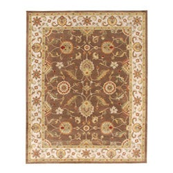 Hand-tufted Courton Brown Wool Rug (2' x 3')