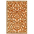 Hand-tufted Tumsar-44 Orange Wool Rug (2' x 3')