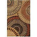 Hand-tufted Angelus Brown Wool Rug (2' x 3')