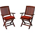 Blazing Needles All-weather Acrylic Outdoor Folding Chair Pads (Pack of 2)