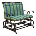 All-Weather Blue Floral Outdoor Double Glider Chair Cushion
