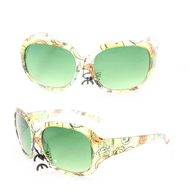 Kid's K3111 Green Plastic Fashion Sunglasses