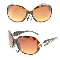 Women's 1119 Brown Python Fashion Sunglasses