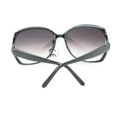 Women's UV512 Black Rhinestone Plastic Square Sunglasses