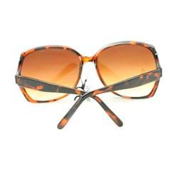 Women's UV512 Brown Leopard Rhinestone Square Sunglasses