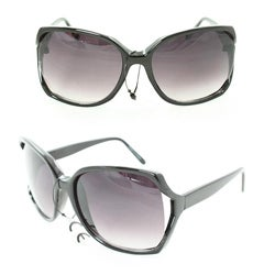 Women's UV512 Black Plastic Square Sunglasses