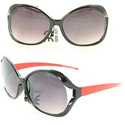 Kid's K3117 Black/ Red Plastic Fashion Sunglasses