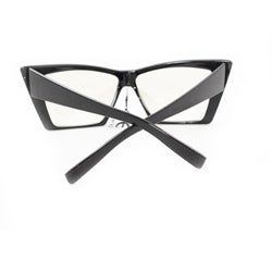 Women's 2869 Black Fashion Sunglasses with Contrasting Nose Pads