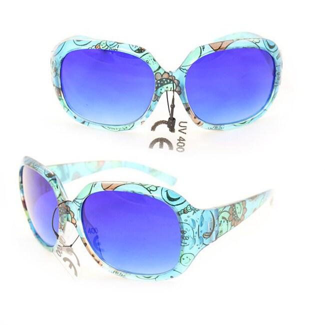 Kid's K3111 Blue Plastic Fashion Sunglasses