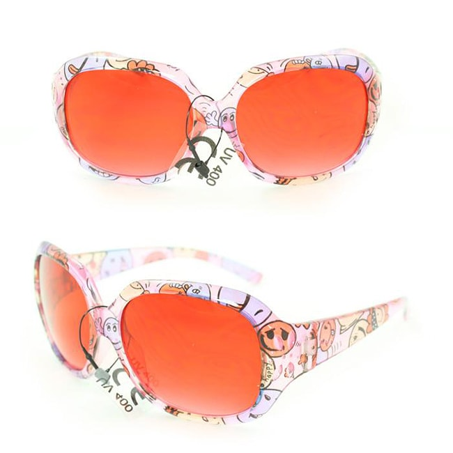 Kid's K3111 Pink Plastic Fashion Sunglasses
