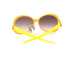 Kid's K3117 Orange/ Yellow Plastic Fashion Sunglasses