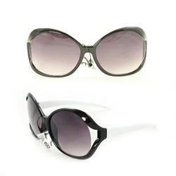 Kid's K3117 Black/ White Plastic Fashion Sunglasses