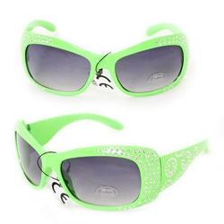 Kid's K5066 Green Plastic Fashion Sunglasses