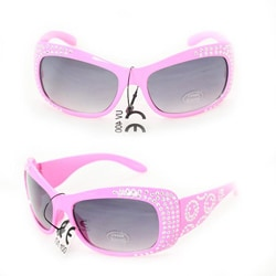 Kid's K5066 Pink Plastic Fashion Sunglasses