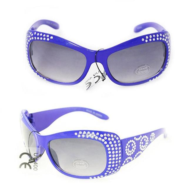 Kid's K5066 Blue Plastic Fashion Sunglasses
