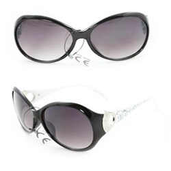 Women's 91008 Black/White Fashion Sunglasses