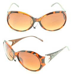 Women's 91008 Brown Python Fashion Sunglasses