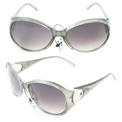 Women's 91008 Silver Fashion Sunglasses