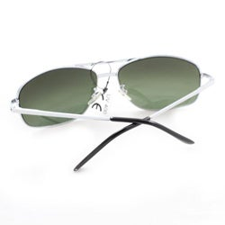 Men's 7837 Silver and Smoke Wrap Sunglasses