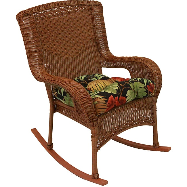 Blazing Needles Tropical Tufted All weather Outdoor Chair