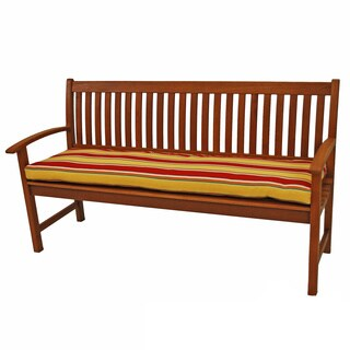 Blazing Needles All-weather Outdoor Three-seater Bench Cushion