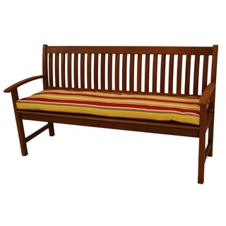 All-Weather Outdoor Three-Seater Bench Cushion with Zippered Closure
