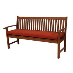 All-Weather UV-Resistant Outdoor Polyester Three-Seater Bench Cushion