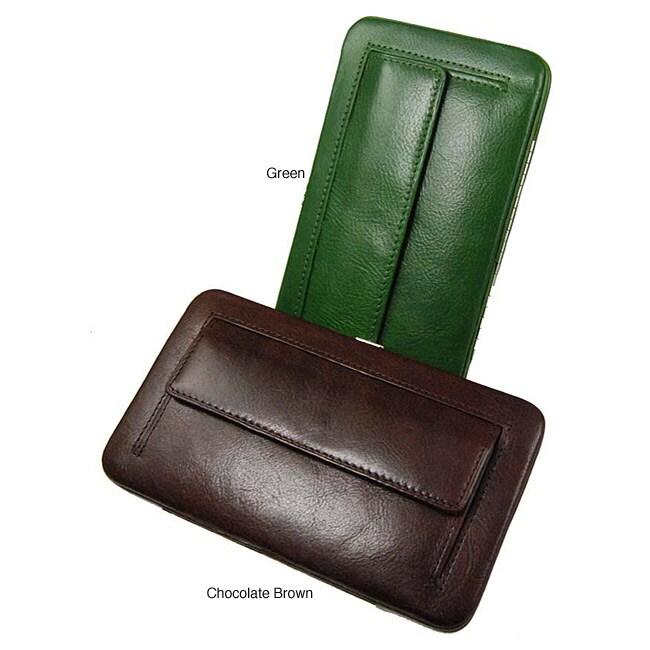 Castello Women's 'Torino' Medium Leather Clutch Wallet