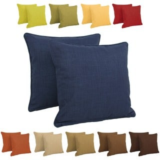 Blazing Needles All-weather Outdoor 20-inch Knife Edge Pillows (Pack of 2)