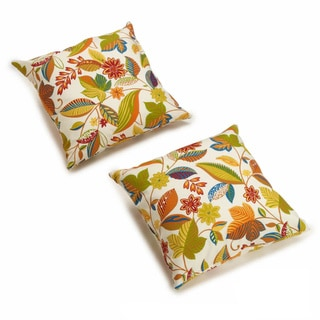 Blazing Needles All-weather UV-resistant Outdoor 20-inch Knife Edge Pillows (Pack of 2)
