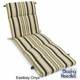 All-Weather UV-Resistant Three-Section Outdoor Chaise-Lounge Cushion