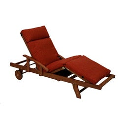 Blazing Needles All-weather Three-section Outdoor Chaise Lounge Cushion