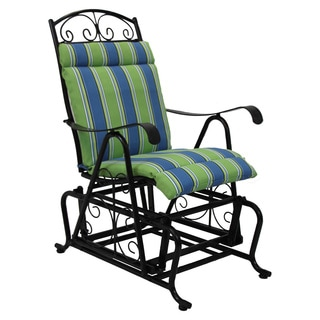 Blazing Needles Patterned All-weather UV-resistant Outdoor Single Glider Chair Cushion