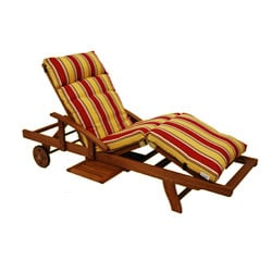 All-Weather Three-Section Outdoor Polyester Chaise-Lounge Cushion