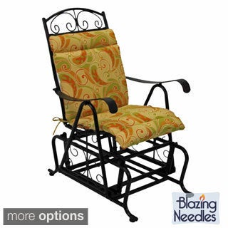 Blazing Needles All-weather UV-resistant Single Glider Chair Outdoor Cushion