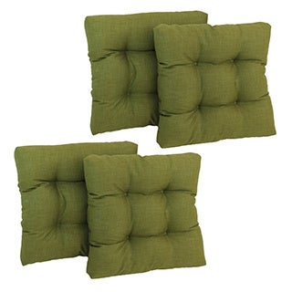 Set of Four All-Weather UV-Resistant Polyester Squared Outdoor Chair Cushions