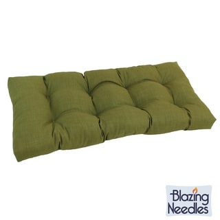 Blazing Needles Solid Tufted All-weather Outdoor Loveseat Bench Cushion