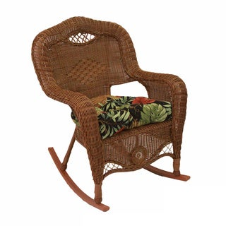 All-Weather U-Shaped Outdoor Rocker Chair Polyester Cushion