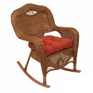 Blazing Needles All-weather U-shaped Outdoor Rocker Chair Cushion