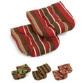 Blazing Needles Tropical/ Stripe All-weather U-shaped Outdoor Chair Cushions (Set of 2)
