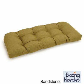 Blazing Needles Solid Tufted All-weather U-shaped Outdoor Settee Bench Cushion