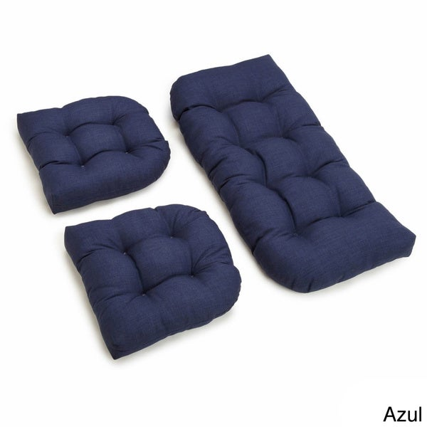 Cushion Set Outdoor All Weather U Shaped Acrylic Bench
