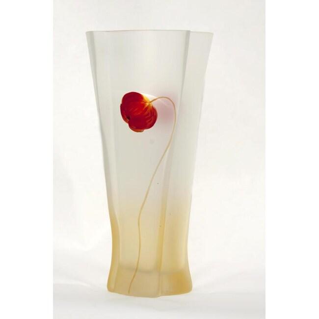Hand Formed Poppy Flower Series Vase