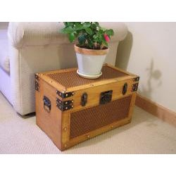 Tuscany Medium Wood Steamer Treasure Chest