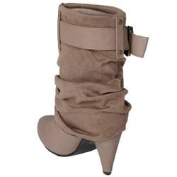 Journee Collection Women's 'Plush-1' Buckle Accent Ankle Boots