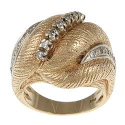 14k Yellow Gold 1/5ct TDW Diamond Scrolled Estate Ring (I-J, SI1-SI2)